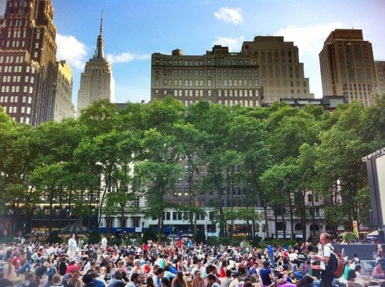 Summer Guide to NYC, HBO's Film Fest in Bryant Park by @lightspeedtravel.
