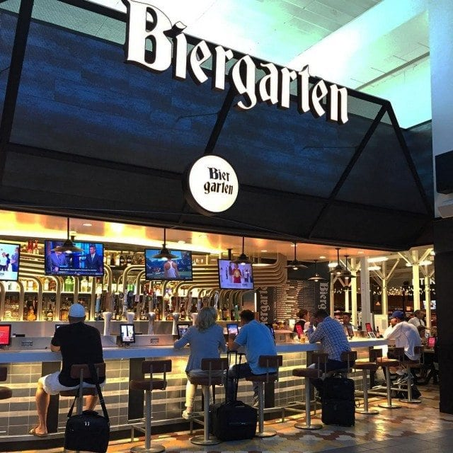 Where to eat at LaGuardia: The Knickerbocker recommends LaGuardia biergarten for travelers at the airport. Photo by @jordanranges.
