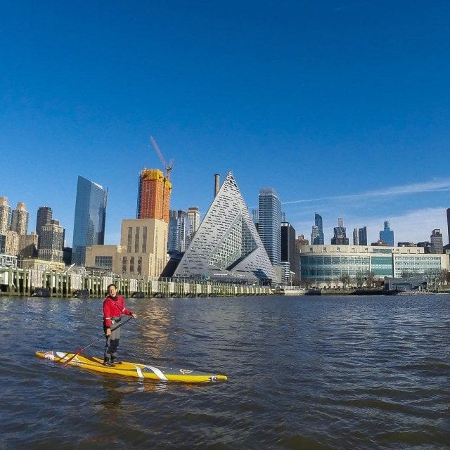 Kayaking in the Hudson River near the Knickerbocker Hotel