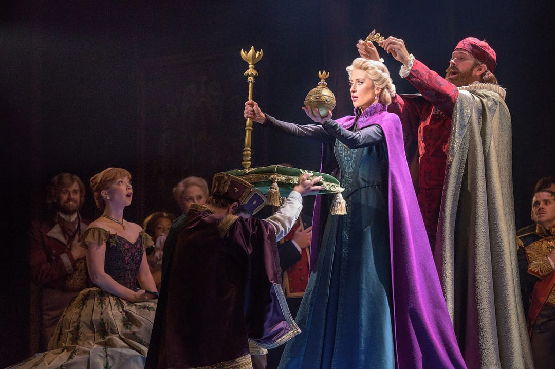 Elsa is crowned queen in Frozen on Broadway, via @frozenbroadway.