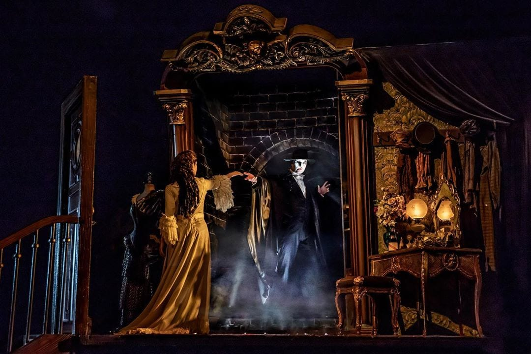 A glimpse inside the elaborate staging of Phantom Broadway. @phantombway