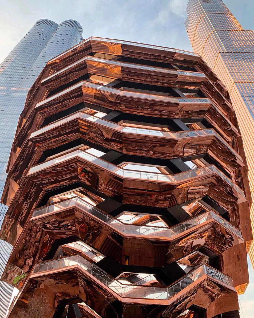 The Vessel rising at Hudson Yards